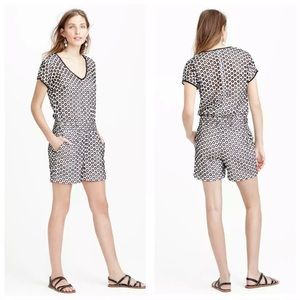 J.Crew sz 0 punches out eyelet romper lined